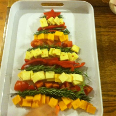 cheese christmas tree holidays pinterest