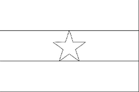 ghana flag coloring page