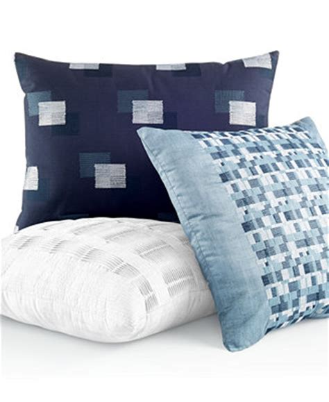 macys bed pillows hotel collection colonnade blue decorative pillow collection decorative throw pillows bed