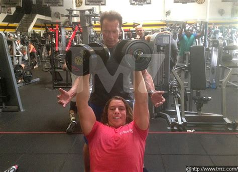 and sons trainer arnold schwarzenegger spotted joseph baena