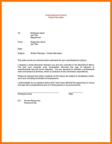Explanation Letter For Insubordination 6 Warning Letter For Insubordination Park Attendant