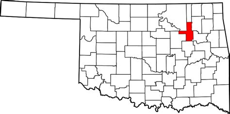 Tulsa County Search File Map Of Oklahoma Highlighting Tulsa County Svg