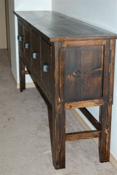 Diy Console Table Christiney S Crafts Diy Console Table