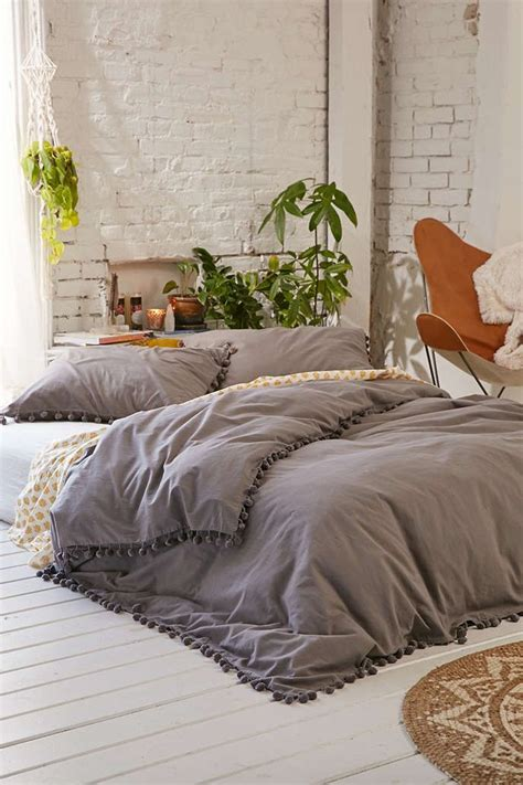 bedding like urban outfitters magical thinking pom fringe duvet cover magical thinking