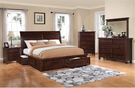 the brick bedroom set sale sonoma 5 piece king storage bedroom set dark brown the