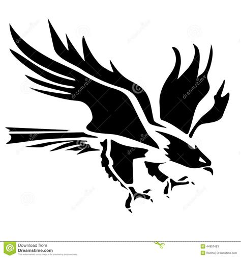 eagle icon illustration stock vector image of decoration