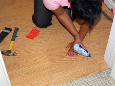 how to glue hardwood floors how to install a laminate floating floor how tos diy