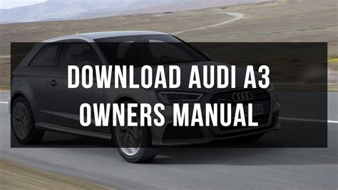 download audi a3 owners manual free youtube