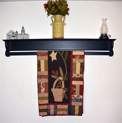 Quilt Hangers For The Wall by Wooden Hanging Quilt Shelf Wall Hanger For Sale Dwr