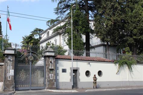 consolato iraniano roma ambasciata ambasciata della repubblica islamica dell