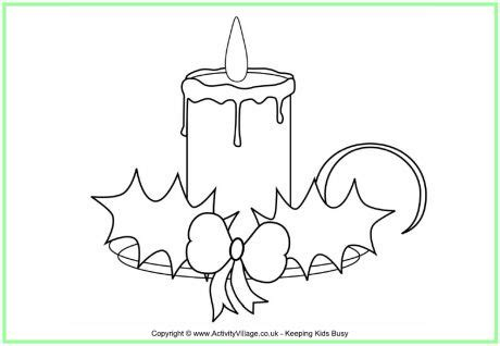 189 Best Images About Christmas Coloring On Pinterest Tree With Candles Coloring Page