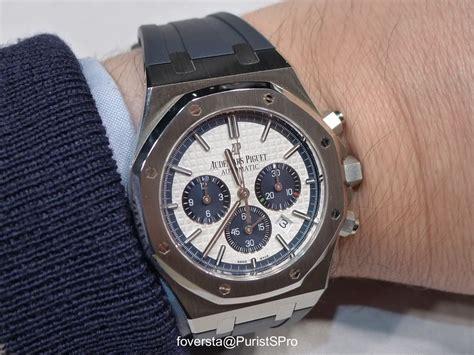 Tali Rubber Ap Audemars Piguet Blue audemars piguet wristshot of the audemars piguet royal oak chronograph ref 26326st swiss ap