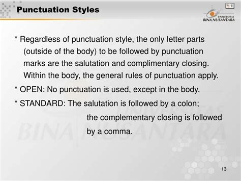 business letters punctuation styles ppt business letters of writing parts of