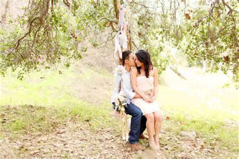pictures of couples swinging our love in october engagement love romantic swing in a park
