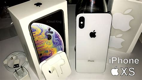 apple iphone xs silver gb xs max unboxing