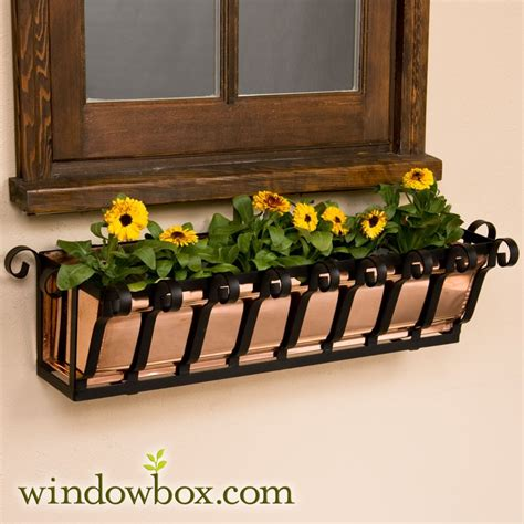 copper window boxes planters 60in pacific heights copper window box window boxes up