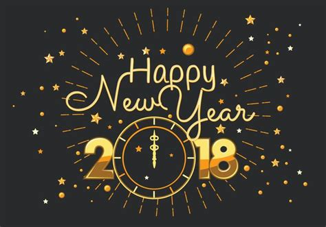 new year 2018 graphics happy new year 2018 typography vector free