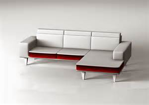 Modern L Sofa Modern L Shaped Couch With Red And White Color Plus Arms