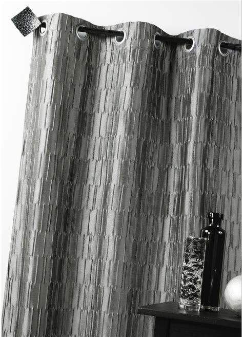 rideau d ameublement en jacquard gris ecru