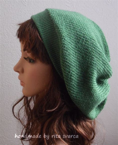 knitted slouchy beanie knit beret slouchy beanie knitted hat slouch hat tam
