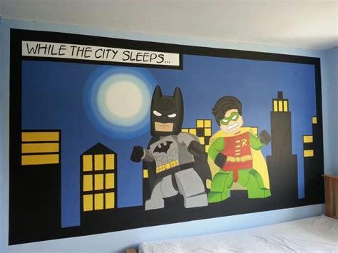 lego batman wallpaper bedroom lego batman and robin mural by me www facebook com