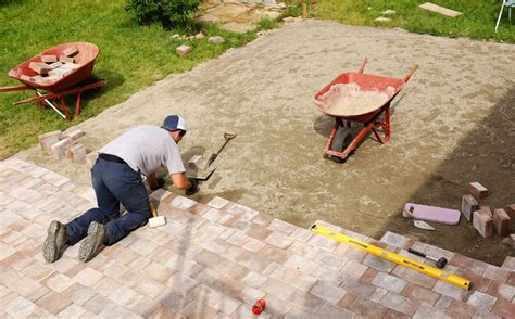 How To Cut Patio Pavers How To Build Brick Paving Patio In 9 Steps In Oak Lawn