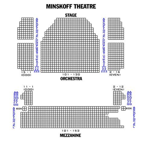minskoff theatre seating plan new york minskoff theatre seating chart theatre in new york
