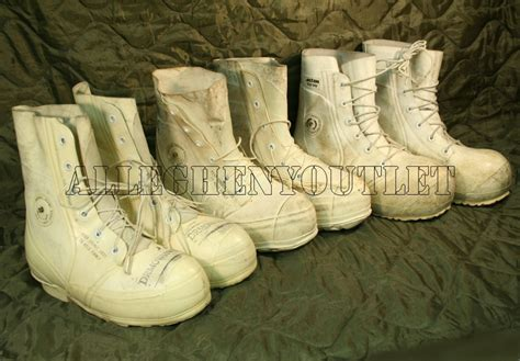 genuine us issue white mickey mouse boots w
