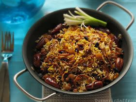 new year rice noodles turmeric saffron reshteh polow rice and noodles for