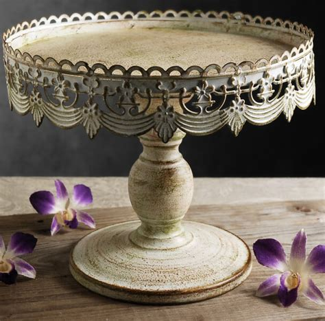 Cake Pedestal With Dome Cake Stand White Metal 10 Quot