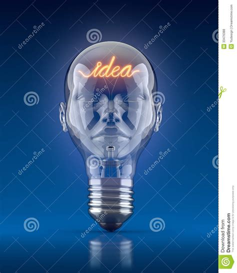Term For Light Headed by Light Bulb Royalty Free Stock Photos Image 33476388