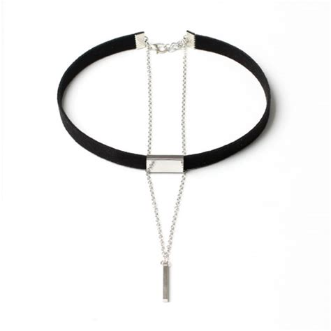 Kalung Murah Choker Korea Multilayer Silver s multilayer choker with chain