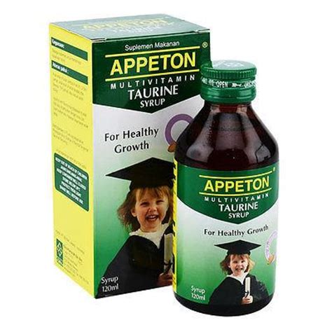 Appeton Lysine Syrup 120 Ml appeton multivitamin taurine promote brain eye development