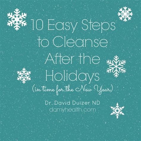 How To Detox After The Holidays by Cleanse After The 10 Steps