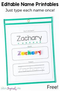 Name Tracing Templates by Editable Name Spelling And Tracing Printables