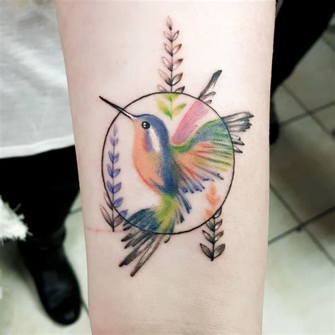 fort worth tattoo small colorful hummingbird by keith c at spinning needle