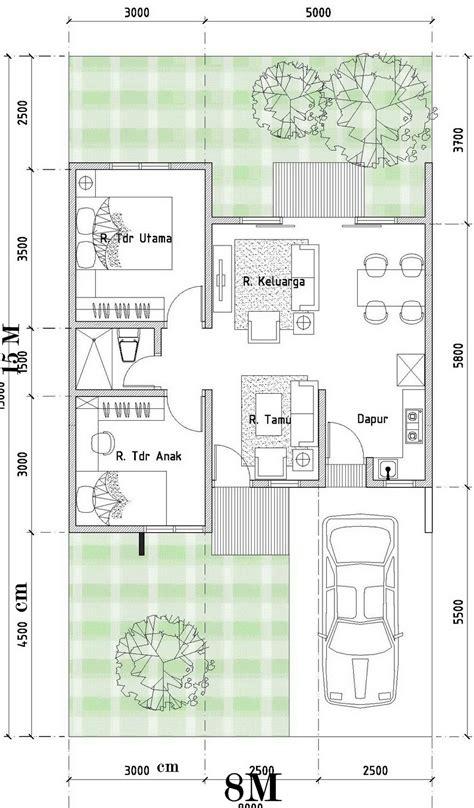 contoh denah desain rumah minimalis type 54 120 desain rumah minimalis