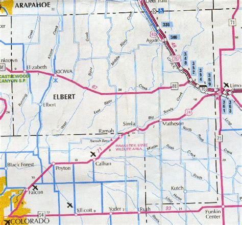 County Colorado Records Elbert County Colorado Map My