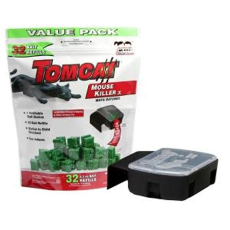 tomcat mouse killer refillable bait station 32 count