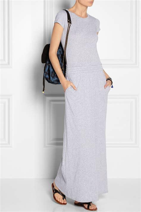Saidah Maxi Umbrella Jersey Alijaya 1 lyst splendid supima cotton and modal blend jersey maxi dress in gray
