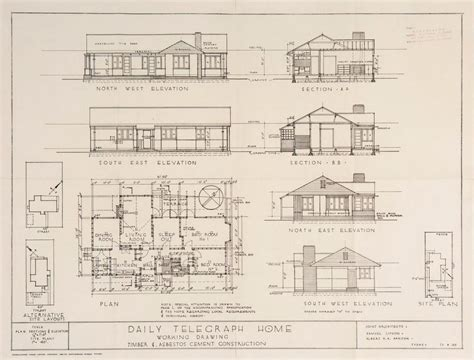 are house floor plans public record post war sydney home plans 1945 to 1959 sydney living