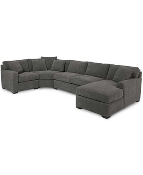 macys radley sectional radley 4 piece fabric chaise sectional sofa furniture