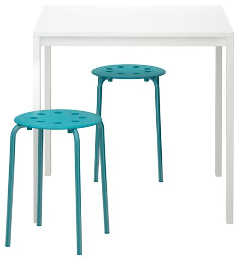 Marius Stool by Melltorp Marius Table And 2 Stools White Blue