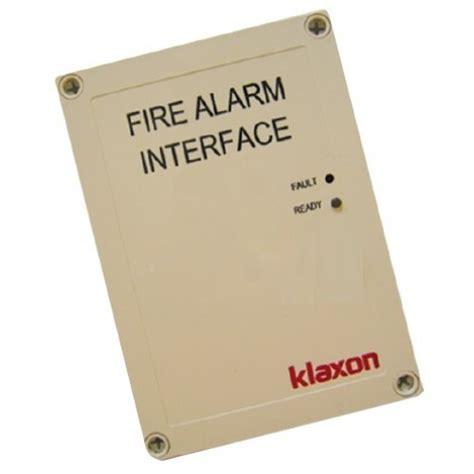 klaxon voice message interface unit for alarm systems