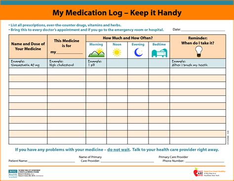 Medication List Template Authorization Letter Pdf Medication List Template Free