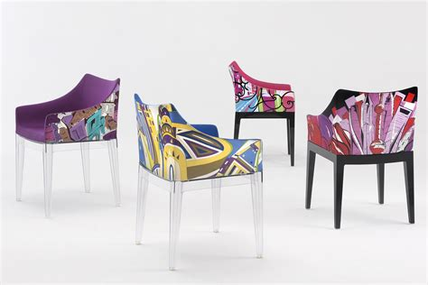 kartell armchair madame pucci edition kartell design armchair world of emilio pucci edition padded