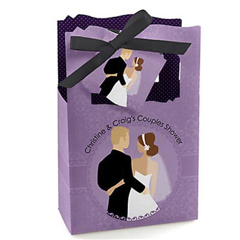couples wedding shower favors purple color themed bridal shower planning ideas