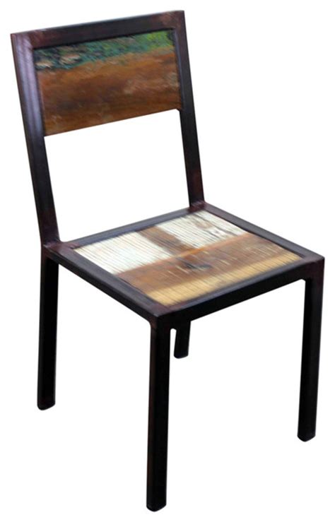 Industrial Dining Chair Iron And Wood Distressed Dining Chair Industrial Dining Chairs By Tres Amigos Furniture