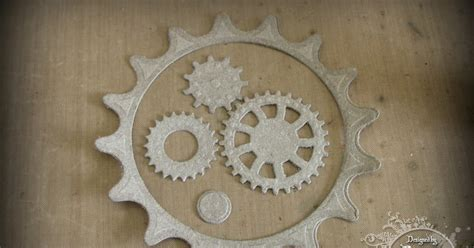 How To Make Paper Gears - frilly and funkie saturday step x step grunge paper gears