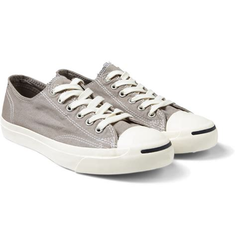 converse grey sneakers converse purcell canvas sneakers in gray for lyst